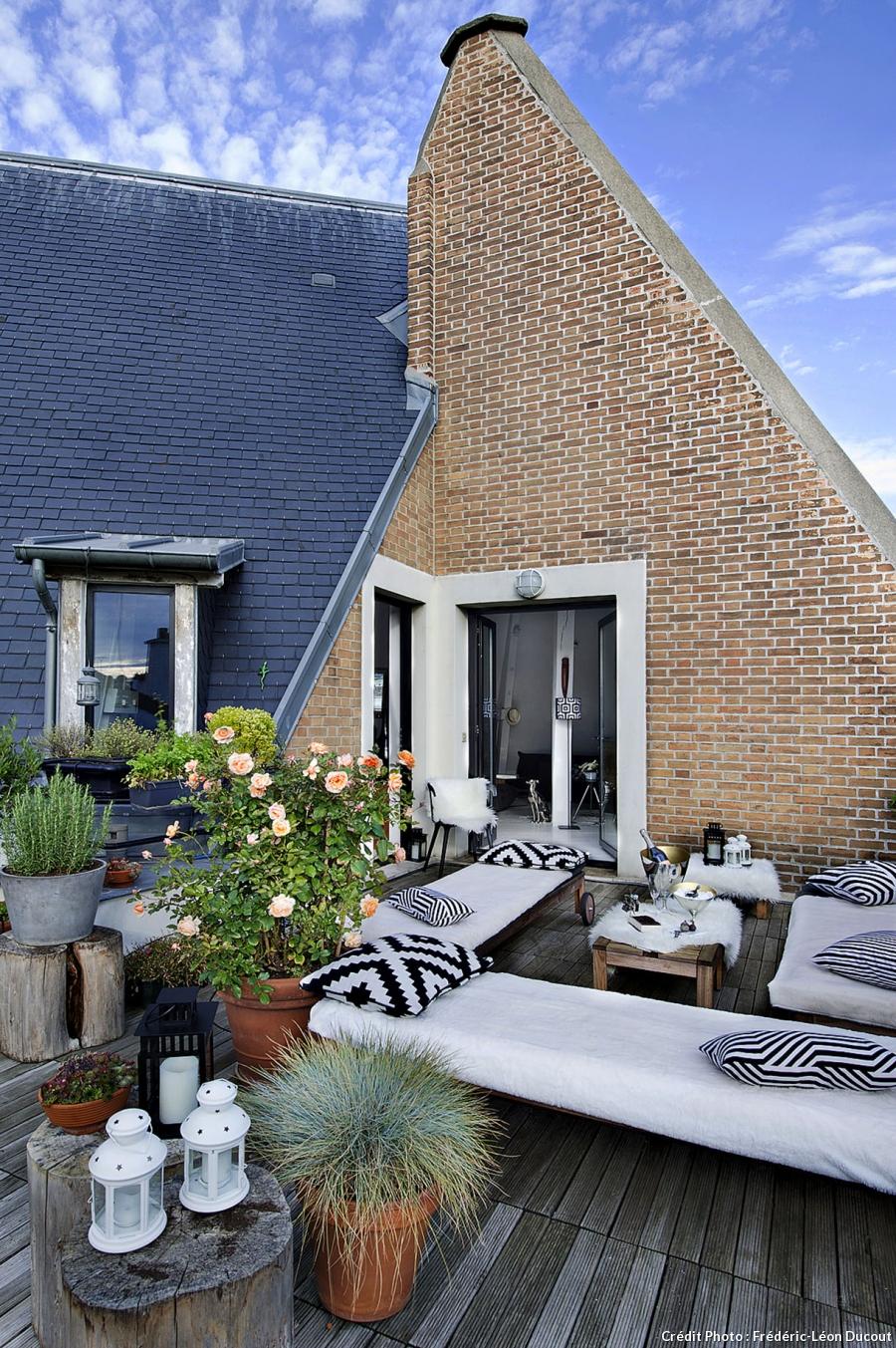Die Wohngalerie Weiß Schwarzer Loft Traum In Paris