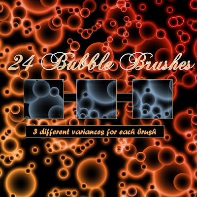 24 pinceles de burbujas