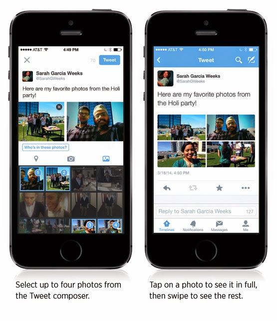 تويتر تقوم بتحديث تطبيق جديد يمكنك من مشاركة مجموعة من الصور فى التغريدة