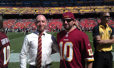 Washington Redskins Honorary Captain before coin toss at FedEx Field