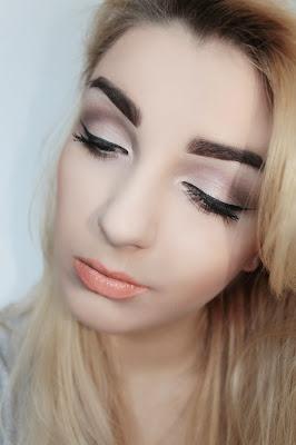 Mój makijaz dzienny+akcent na usta