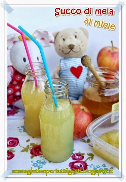 succo di mele al miele fatto in casa: sano e senza glutine!