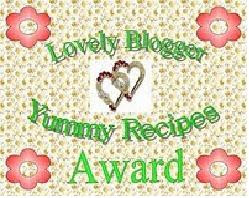 LOVELY BLOGGER YUMMIES RECIPE AWARD