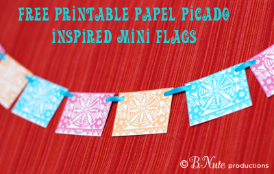 picture relating to Papel Picado Printable named bnute productions: Totally free Printable Papel Picado Influenced Mini