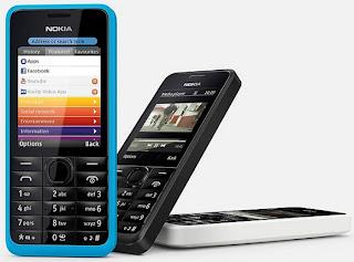 Nokia 301 dan Nokia 105 Spesifikasi