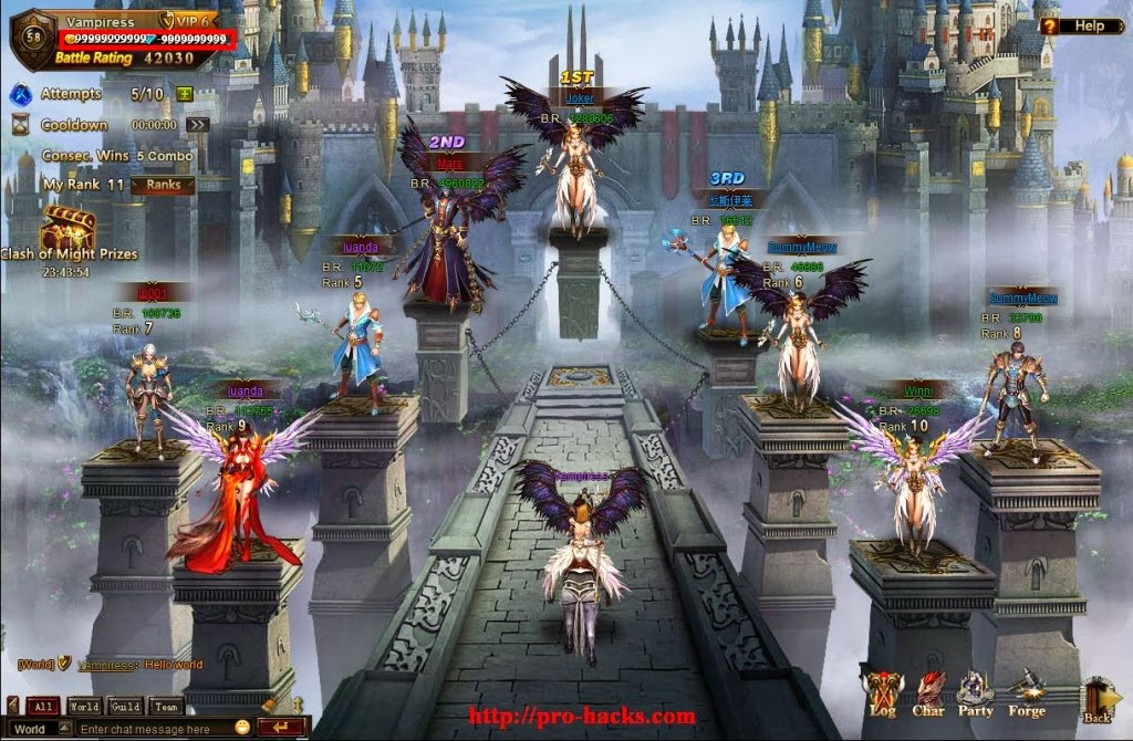 League Of Angels v.2.8 Outil de piratage