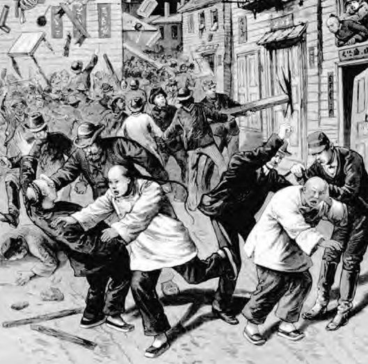 Chinise, 1880 riots