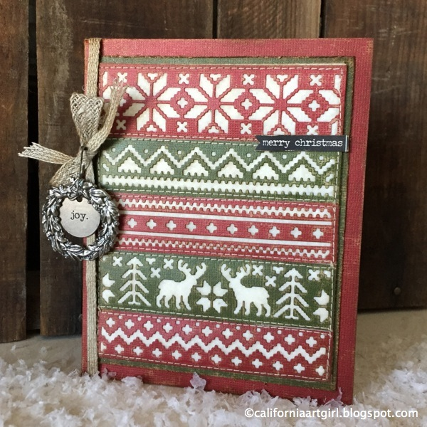 tim holtz inspirations series holiday knit card
