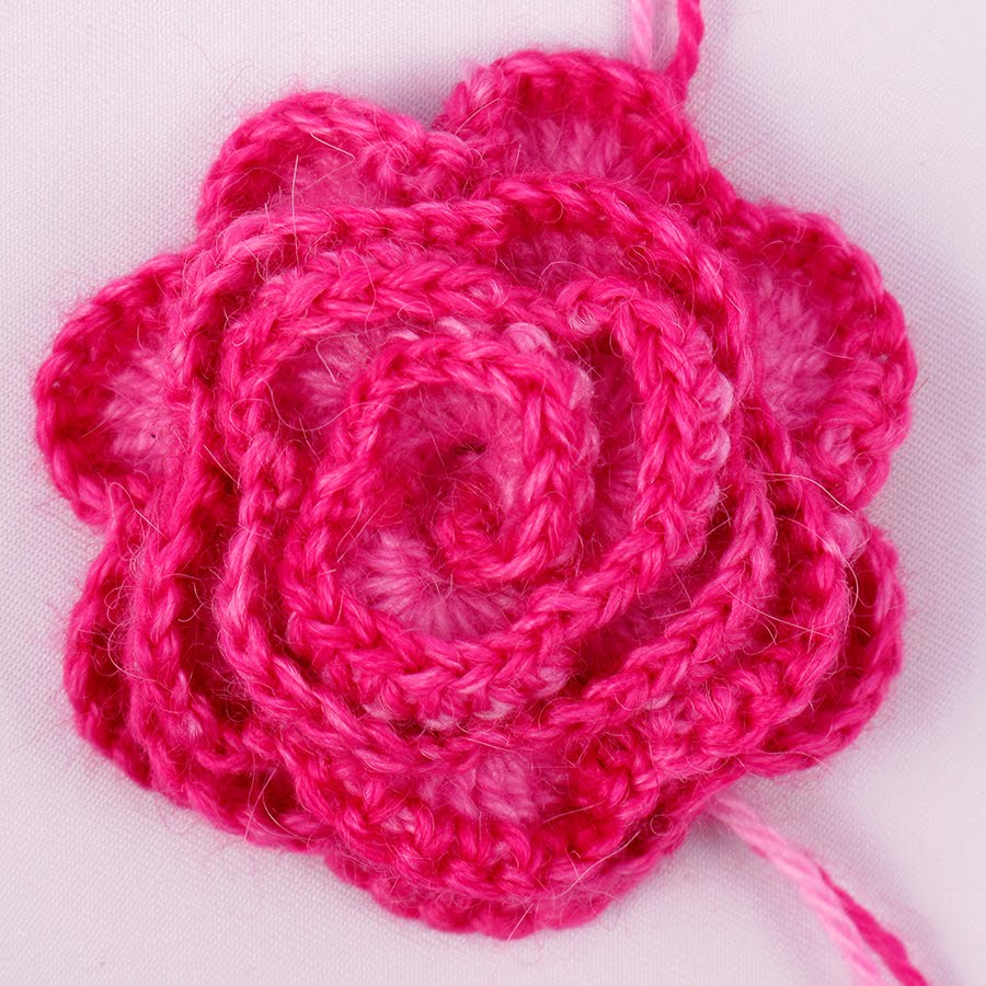 Crochet Rose Pattern Step By Step : Crocheted Rose Pattern - Knitting and Crochet - Knitting ...