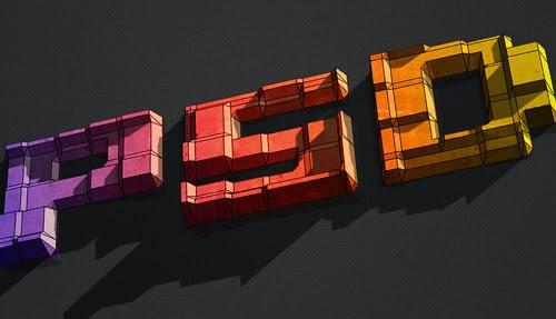3D Text Blocks