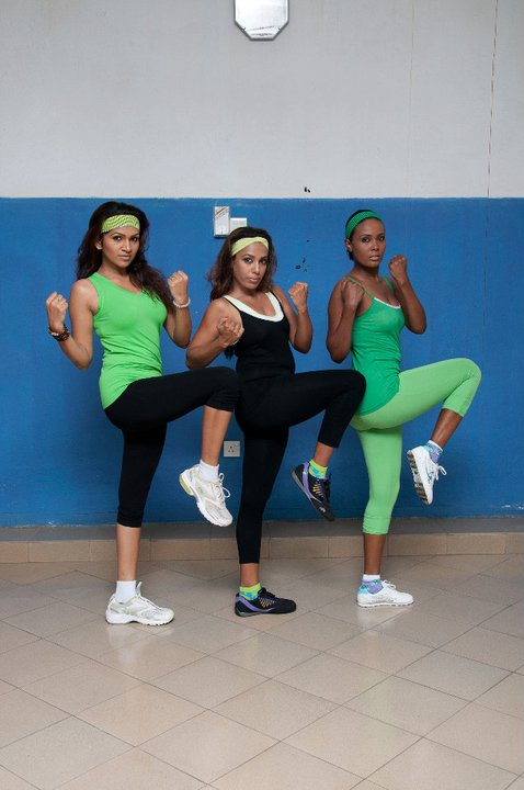 Sri Lankan Hot Models - Nilusha, Muth & Harshani Aerobics Exercise