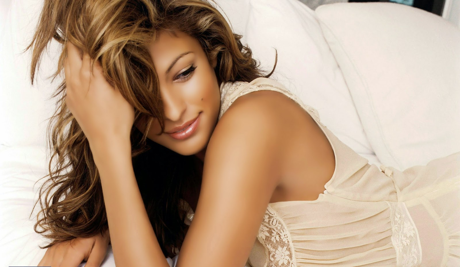 Eva mendes beautiful hair style wallpaper