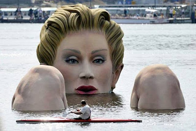 A Huge Statue in Water