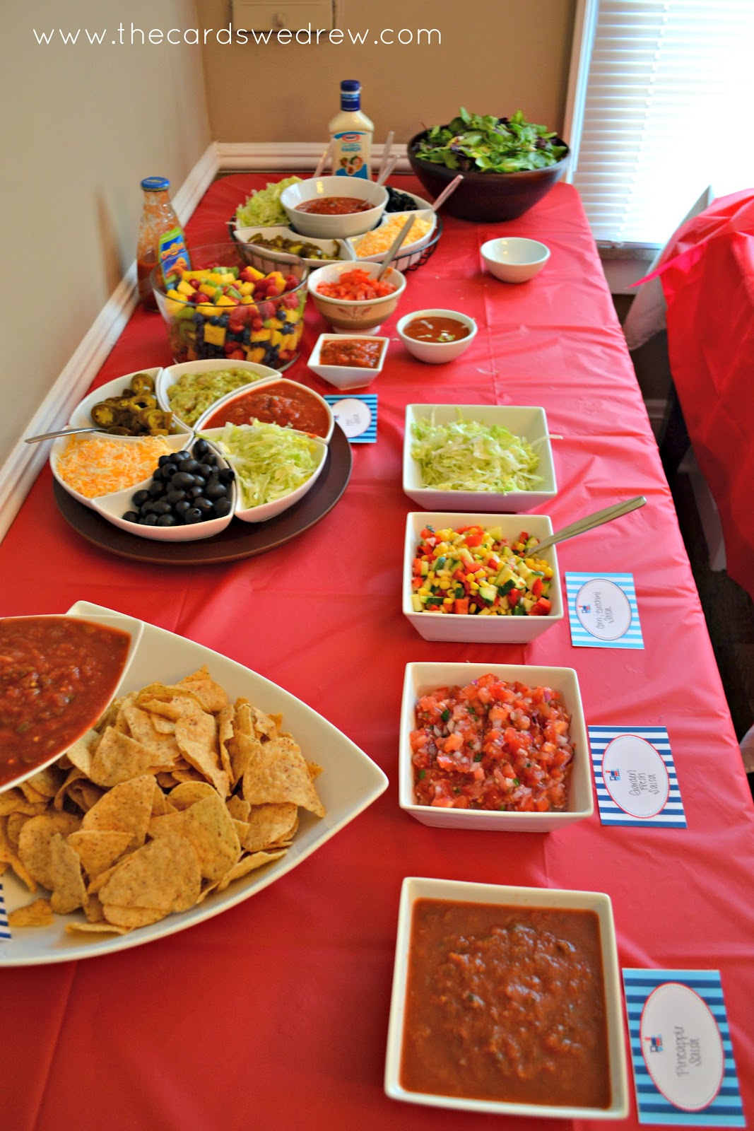 Taco bar tacobar taco parties houses warm nachos bar for Food bar ideas for a party