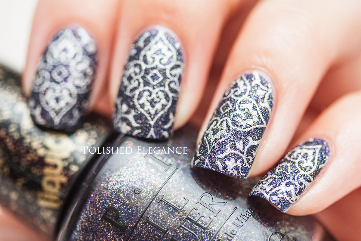 ... Rocks nail art stamping textured nail polish nail art manicure