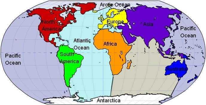 English at intxaurrondo hegoa school world continents and oceans gumiabroncs Choice Image