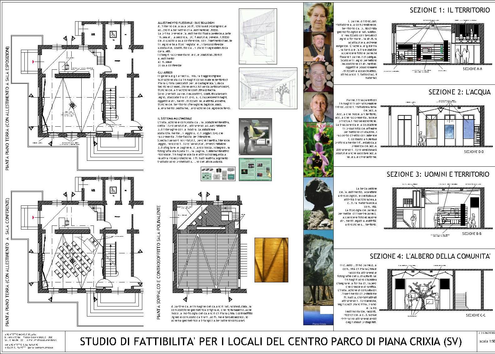 Bottega di architettura e di arte contemporanea progetto - Tavole di concorso architettura ...