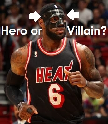 Why does Lebron James wear a face mask?