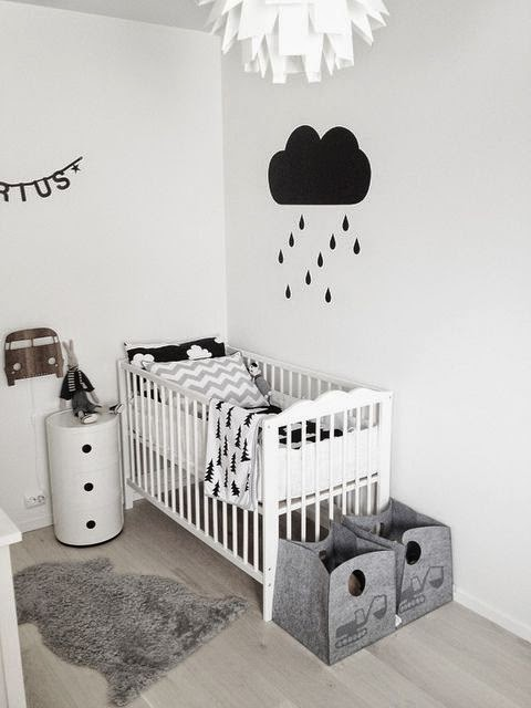 Bold Black and White Nurseries Ideas
