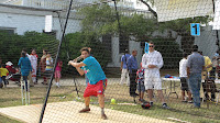 Cricket batting cage during Radha Madhav Dham's Indian Mela Fair 2012, Austin