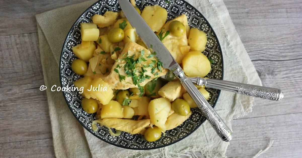 Cooking julia poulet aux olives et citrons confits - Cuisiner un poulet entier ...