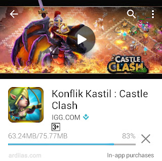 Proses download dan install konflik kastil - Cara Download & Install Aplikasi Game Konflik Kastil | Android