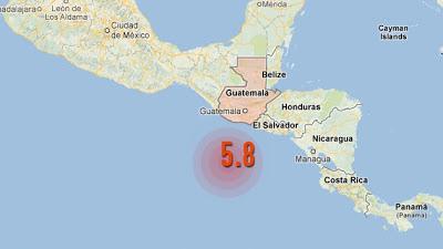 SISMO DE 5,8 GRADOS SACUDE GUATEMALA 10 DE MARZO 2013