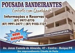 Pousada e Hotel Bandeirantes em Buique