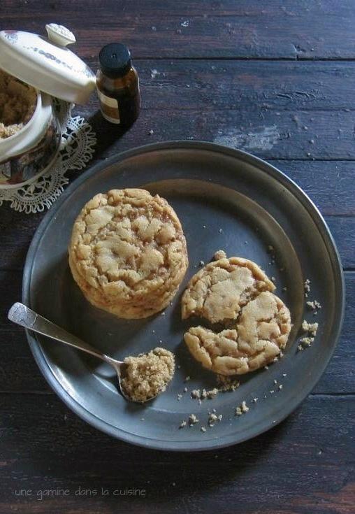 brown sugar + toffee cookies | une gamine dans la cuisine