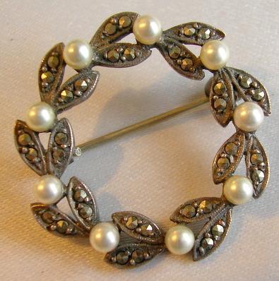 Antique Pearls & Marcasite
