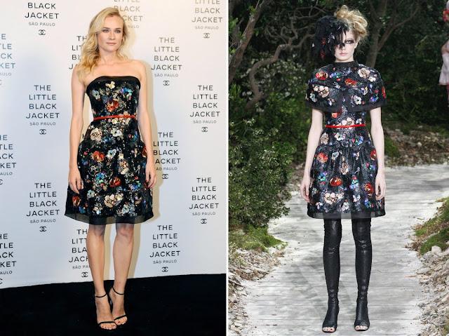 Diane Kruger in Chanel - Spring 2013 Couture - Chanel Little Black Jacket Brazil Event
