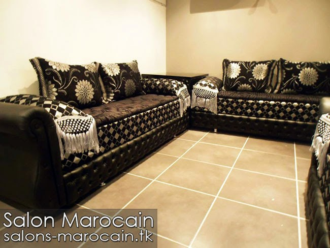 boutique salon marocain 2018 2019 salon marocain noir. Black Bedroom Furniture Sets. Home Design Ideas