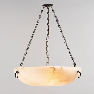 Burton Alabaster Bowl Pendant Light