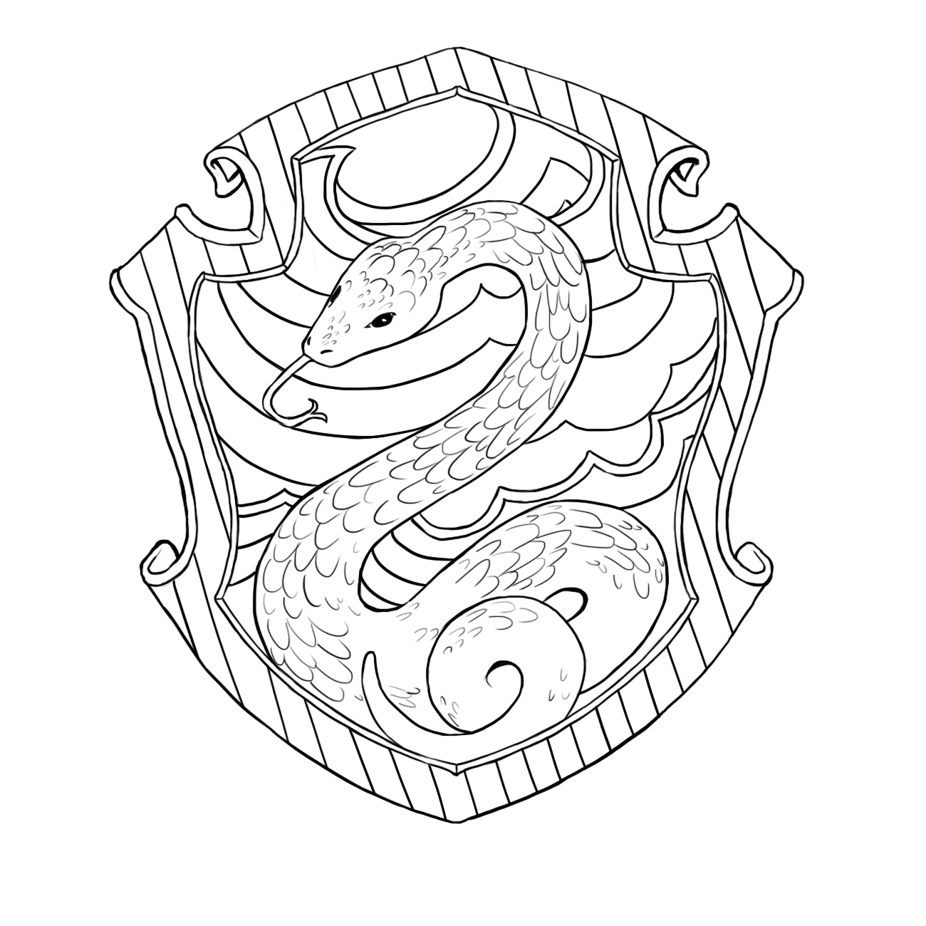 Slytherin House Coloring Pages