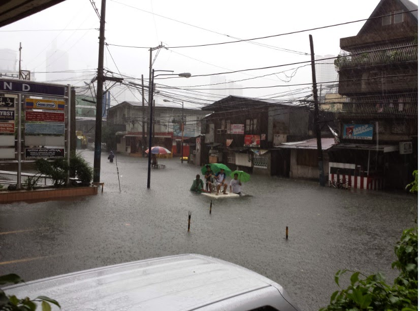 Flood along Dela Rosa St., Makati City due to Tropical Storm Mario