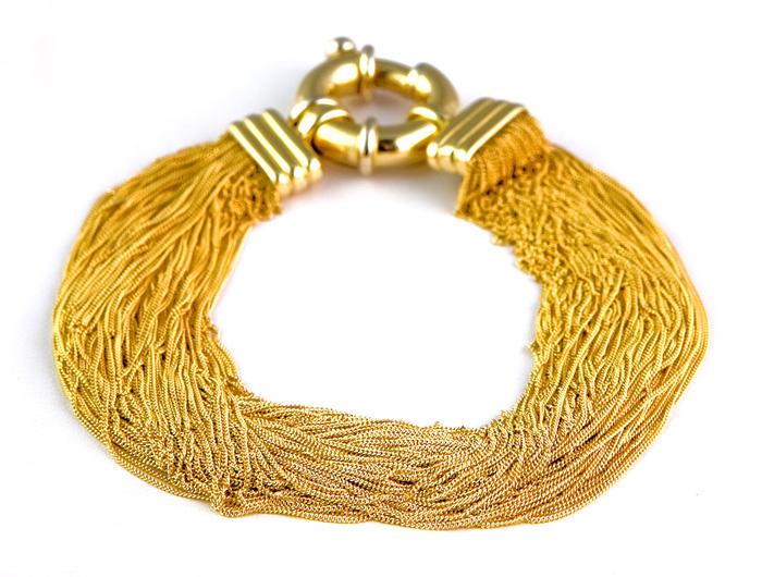 Gold bracelets jewelry