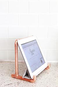 Copper Pipe iPad Holder