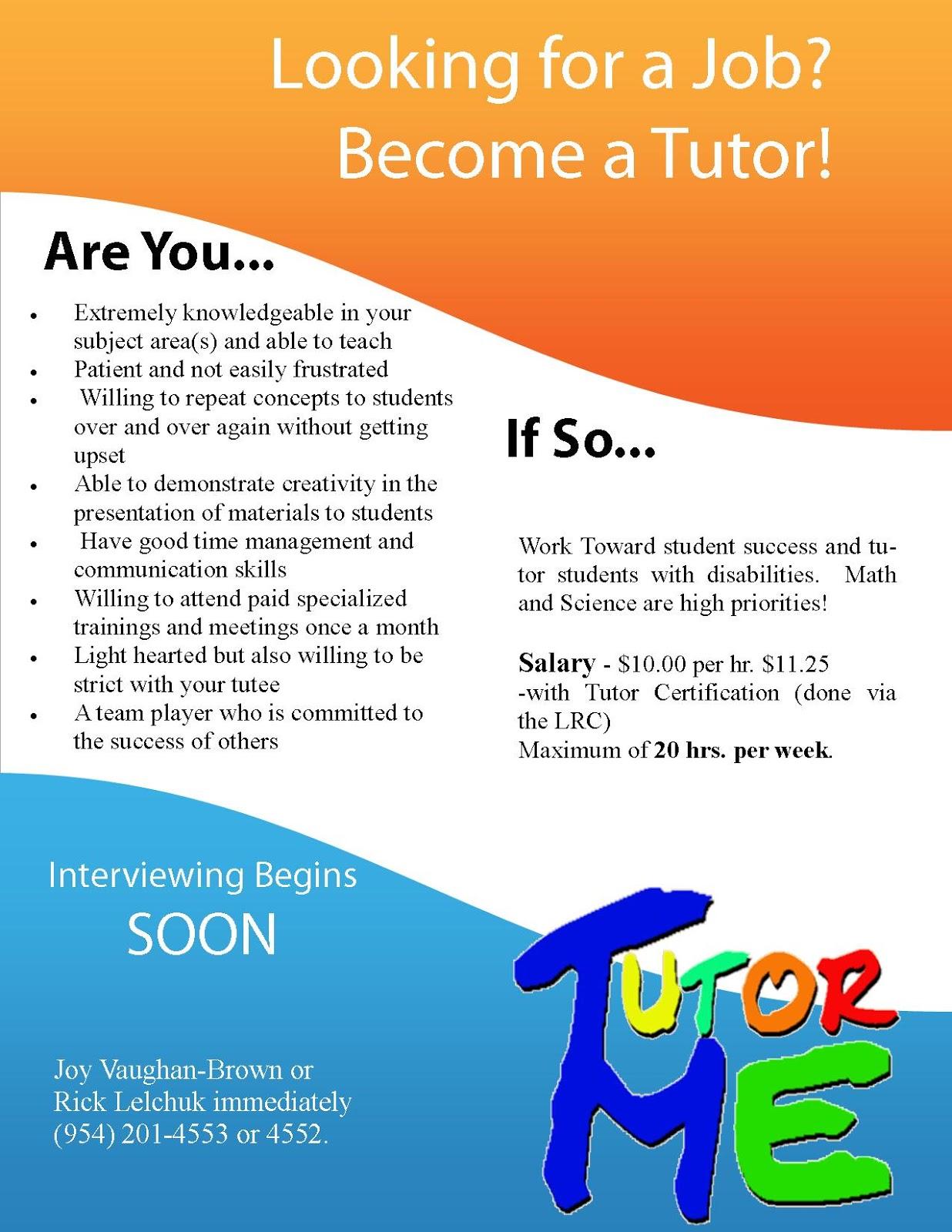 tutor templates flyer.