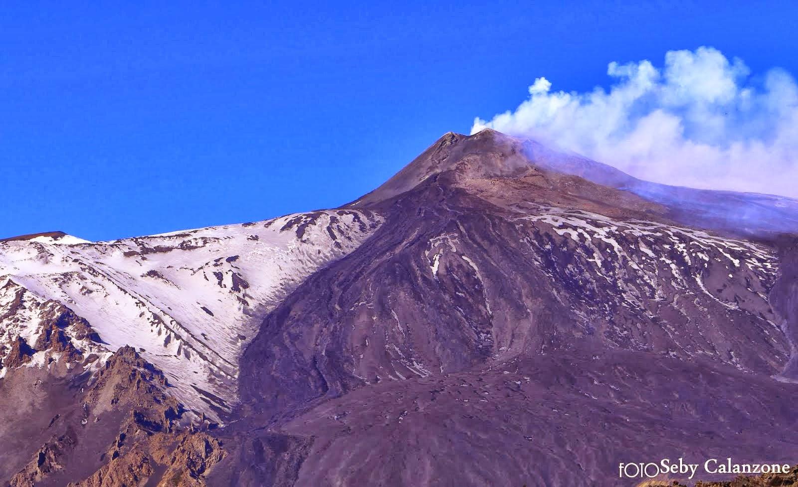 Etna vista frontale dal Salto della Giumenta