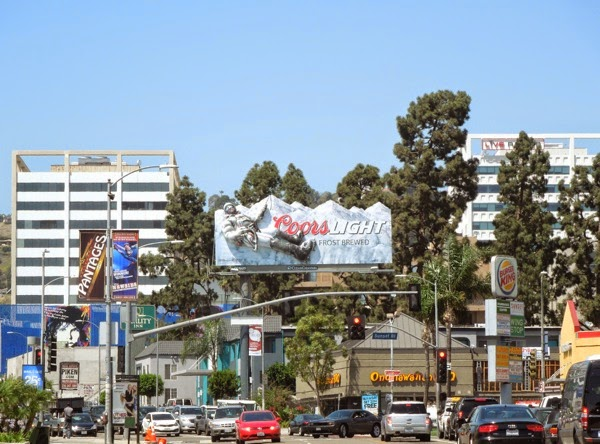 Coors Light 3D mountain climber billboard Sunset Boulevard