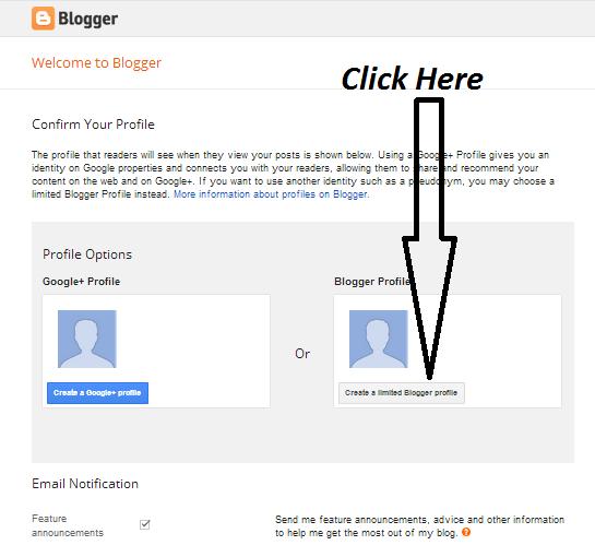create blog on blogspot