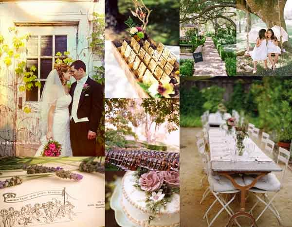 Rustic Outdoor Wedding Aisle Decorations pictures