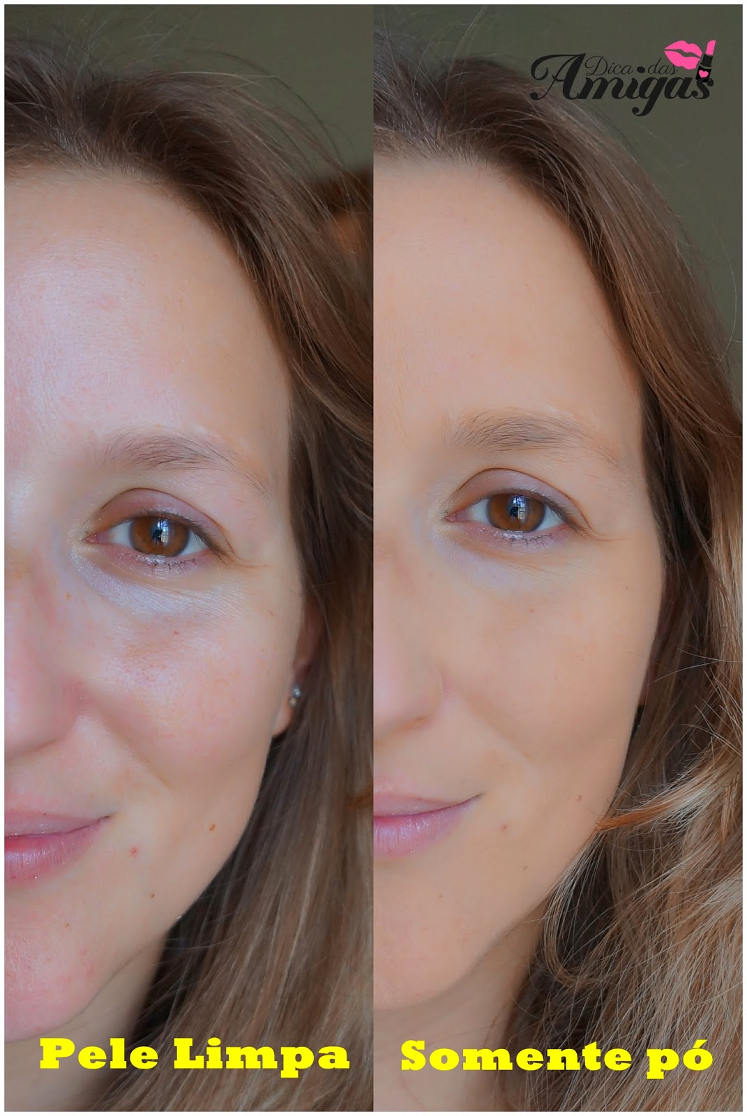 Pó facial com proteção solar