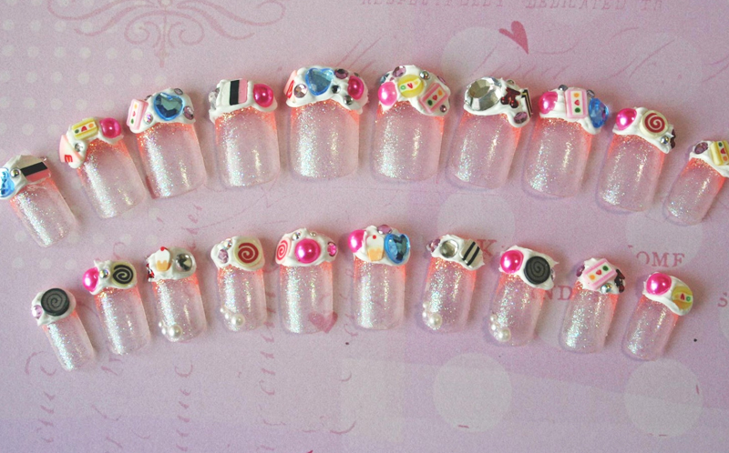 japanese candy nail art for