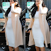 Kim k shows off her baby bump hours after it dissapeared lol (Photos)