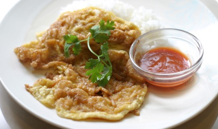 Thai and Chinese food recipes: Thai style omelette (Khai Jiao)