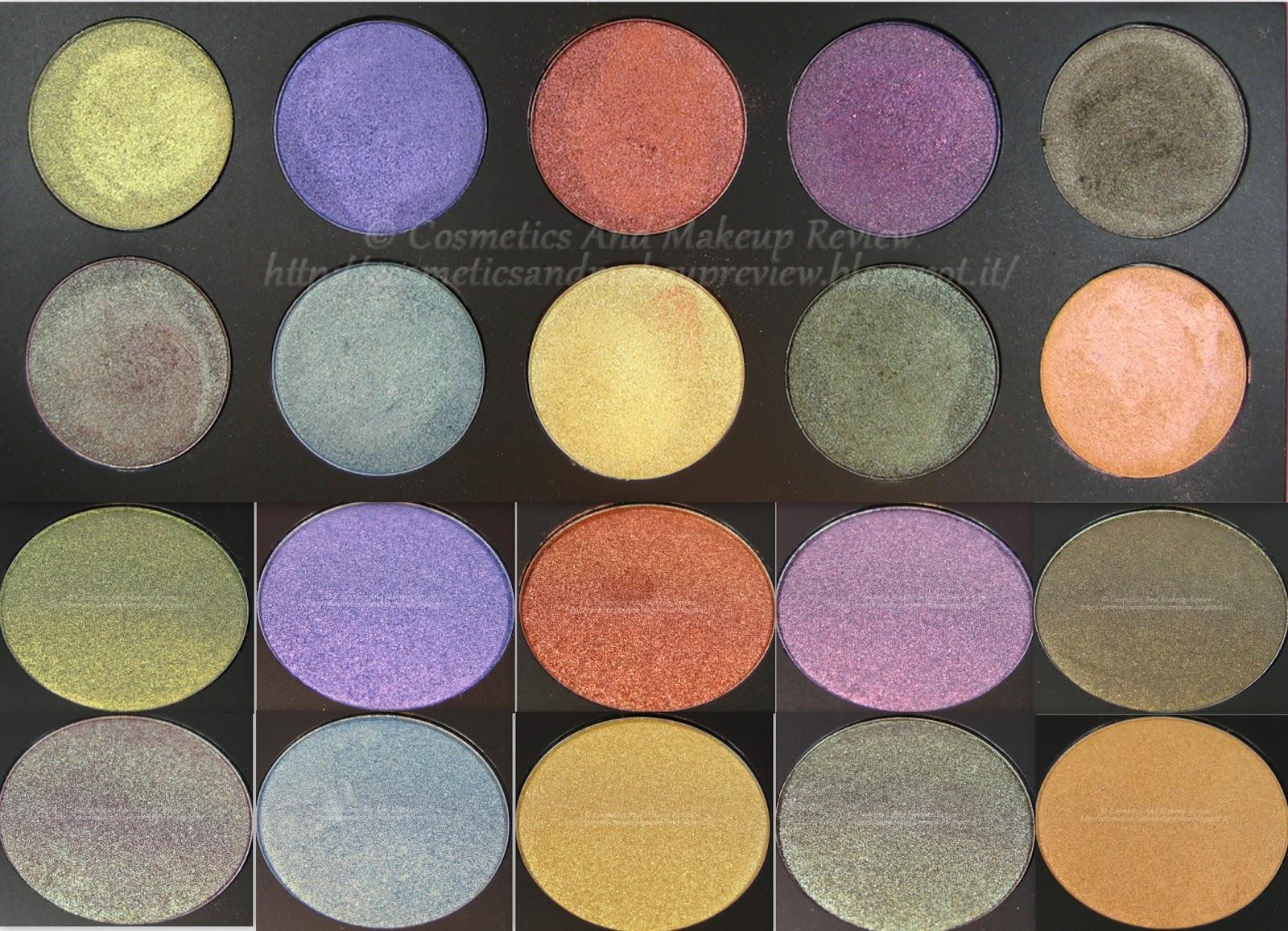Neve Cosmetics - Palette Duochrome (2014) - descrizione cialde