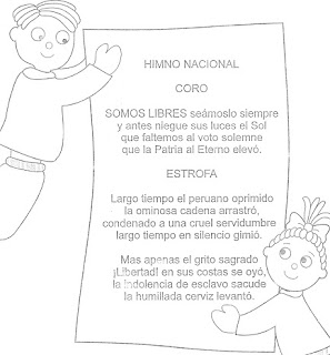 Himno de Perú para colorear