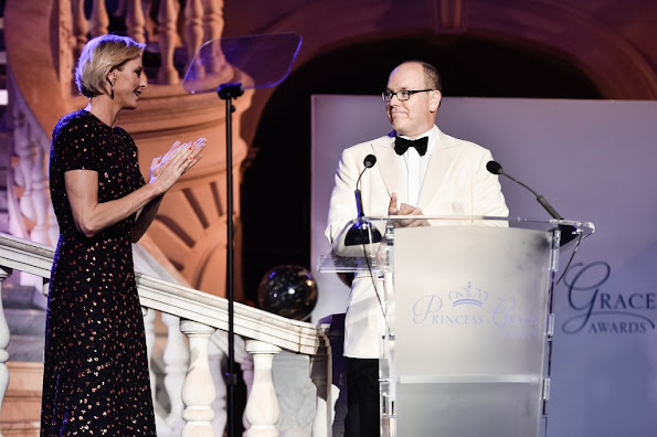 Prince Albert II of Monaco and Princess Charlene of Monaco attended the 2015 Princess Grace Awards Gala With Presenting Sponsor Christian Dior