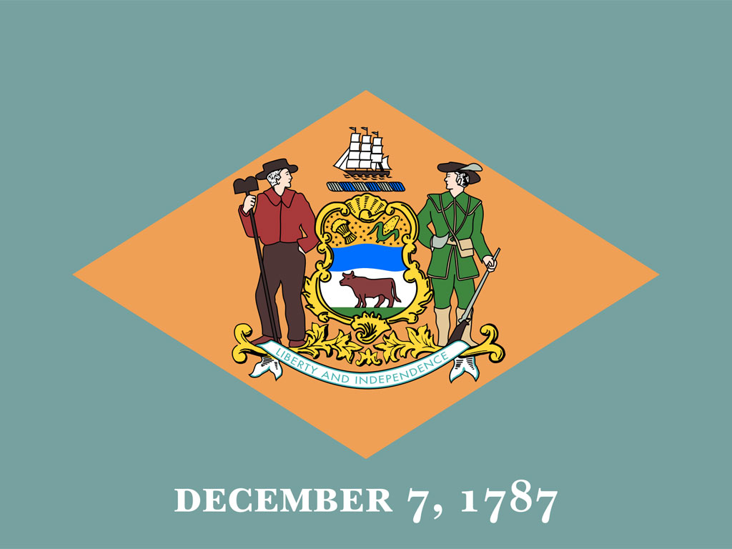 State Flag Of Delaware Usa American Images